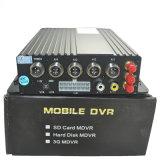Gravador Portátil Digital DVR Ahd Rastreador GPS com a rede WiFi Mdvr 4 canais