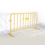 Желтая баррикада случая цвета для безопасности дороги