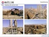 Sección H cónicos de estructura de acero de bajo costo de la planta de plástico