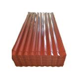 PPGI SGCC Couleur métal ondulé pour toit recouvert de matériaux de construction