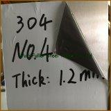 Chapa de aço inoxidável do SUS 304 0.4mm para electrodomésticos