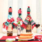 Nieuwe Decoratieve Kerstmis van de Fles van de Wijn van Kerstmis breit de Reeks van de Hoed van de Sjaal