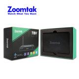 Zoomtak bester verkaufenandroider Ott intelligenter Fernsehapparat-Kasten T8V vierradantriebwagen-Kern Wechselstrom-WiFi