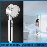 Testa di acquazzone tenuta in mano, angolo del tubo flessibile dell'acciaio inossidabile Rainfull 60 flessibili ad alta pressione dell'interruttore di pausa del gocciolamento di risparmio dell'acqua termale di massaggio di Wassern '' registrabile