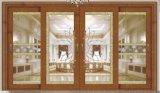 Professional Doble acristalamiento aluminio puerta corrediza de vidrio