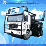 装置の材木のトラックのトレーラーを使用して木製の交通機関
