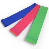Venda roja amarilla del látex de la resistencia del ejercicio de la venda del bucle del verde azul 4
