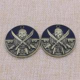 記念品のカスタム金属の頭骨のエナメルによって浮彫りにされる硬貨