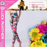 Pantalones de la aptitud de la yoga de las mujeres de la manera que funcionan con las polainas del deporte