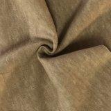 ブラウンカラー(ND-0346-0002)の自然な染められた麻の有機性綿織物