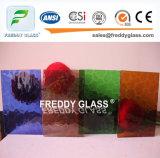 vidro de indicador de vidro tecido bronze da mobília do vidro modelado de 4mm