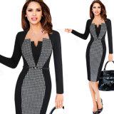 Les femmes Illusion contraste optique Office Business Parti robe Bodycon de travail