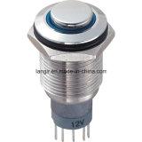 L16 momentáneo chapado en níquel interruptores de botón de presión de latón (L16H-M1-N)
