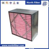 Filtre moyen de cadre de fibre synthétique avec le support en métal