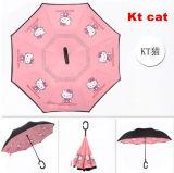 Ombrello di inverso del fumetto dell'ombrello dell'amo di C per i capretti