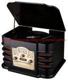 Aison Handgefertigtes Gehäuse, Bluetooth Box Music Player Drehtisch Gramophone