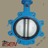 Ferro Fundido PN10/16 ANSI Tipo Espigão de Válvula Borboleta Com Engrenagem