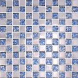 Mosaico cristalino de cristal azul del precio al por mayor del mosaico del color de la mezcla