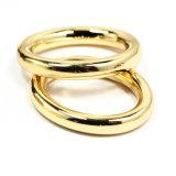 A curvatura redonda do anel da liga quente do zinco do metal da venda para o saco parte os acessórios dos bens do couro de sapatas da curvatura de correia (YK941)