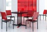 A sala de jantar moderna mesa e cadeira de mobiliário