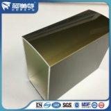 Pipe carrée en aluminium d'électrophorèse d'OIN 6063t5 Champagne pour la porte
