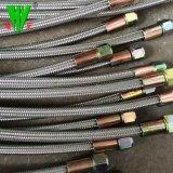 Alta temperatura do tubo de borracha de arame de aço inoxidável 304 SAE 100R14 tubo de metal flexível