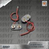 9V Batteriehalterung-Batterie-Verschluss mit Leitungskabel-Draht