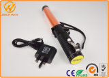 Roadside Saftety Flash-Steady-Lighting-Close rechargeable de contrôle du trafic de la police baton