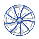 철 반지를 가진 PP/ABS 검정 그리고 금 차 바퀴 허브 센터 덮개
