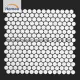白いペニーの円形のモザイク・タイルを販売する無光沢の装飾的な工場