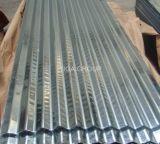 波形の金属の屋根ふきによって電流を通される屋根シートのAzの上塗を施してある屋根ふきシート