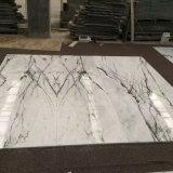 Белые мраморный плитки пола с Polished поверхностью для нутряного украшения