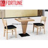 특별한 디자인 가죽 의자 (FOH-BCA07)를 가진 현대 정연한 나무로 되는 대중음식점 테이블