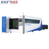 Alta precisione e macchina per il taglio di metalli del laser della grande di funzionamento fibra della Tabella