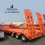 Vrachtwagen Lowbed Semi 3 van het Vervoer van het graafwerktuig de Op zwaar werk berekende de Aanhangwagen van de As