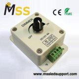 Interruptor de reóstato rotativo de LED fabricante única cor Botão rotativo montado na parede da intensidade da faixa de LED DC12V~24V Marcação, RoHS Garantia
