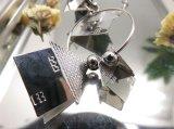 Orecchino rotondo di figura della Camera di colore dell'argento dei monili della lega del metallo