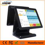 """Het dubbele Scherm 15 """" POS van het Verkooppunt Systeem met Capacitieve Touchscreen"""