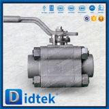 La clé de Didtek actionnent le robinet à tournant sphérique fileté modifié de TNP