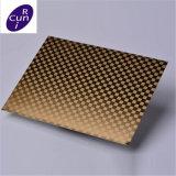Vente chaude 201 304 plaque d'acier inoxydable de traitement extérieur gravure 2b de miroir pour la décoration de porte