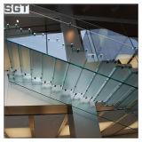 pasamano de cristal endurecido claro de la escalera de 10m m