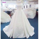 160620 Strapless clássicos da fábrica uma linha vestido de casamento com corpete dos plissados