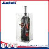 Sacchetto del dispositivo di raffreddamento di vino del ghiaccio della birra del dispositivo di raffreddamento del PVC della bottiglia con la maniglia