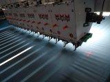 El acolchar horizontal del ordenador y máquina del bordado con el solo rodillo
