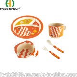 중국 컵 숟가락 격판덮개 포크 사발 순수한 성격 대나무 섬유 식기류 세트에서 대량 구매