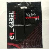 Biodegradierbarer LDPE-glatter gestempelschnittener Plastikeinkaufen-Geschenk-verpackenbeutel Hf1114