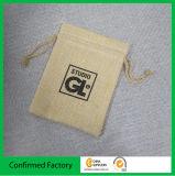 Индивидуального логотипа методом трафаретной печати кулиской подарок Burlap сумки