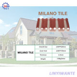 Mattonelle di tetto rivestite di Milano del metallo della pietra facile della costruzione di resistenza del vento
