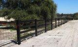 Cerca negra del caballo/cerca negra de la cerca del PVC/de carril del rancho/cerca del vinilo