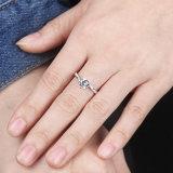 입방 지르코니아 은 반지를 놓는 가장 새로운 디자인 6 견인삭